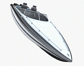 marine Speed Boat 3D model