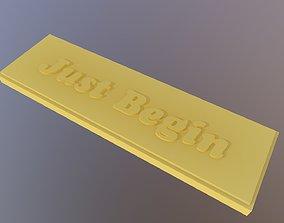 3D print model Just Begin Label