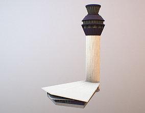 Airport Control Tower EGCC 3D model