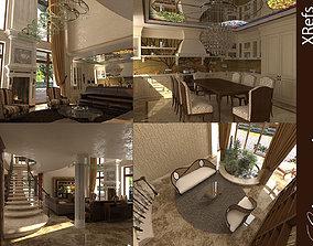 classic interior house 3D