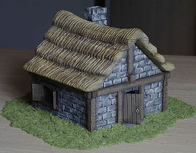 Medieval village building 3D printable model