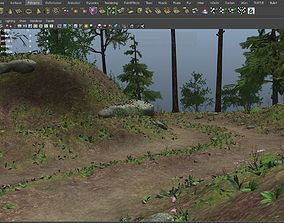 Landscape and Path Scene 3D model