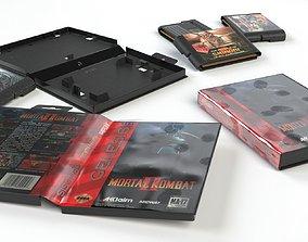SEGA Megadrive 2 Cartridge And 2 Cases 3D