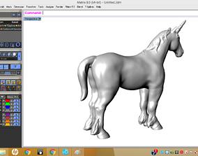 3D print model 1 horned horse