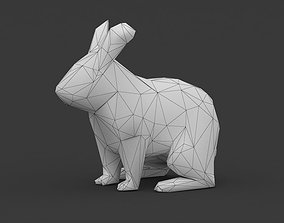 3D asset Super Low Poly Rabbit Bunny