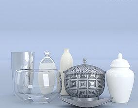 3D Kitchen Pots Set