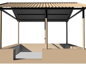Park Shed 3D asset