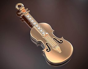 Pendant violin 3D printable model