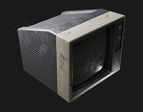 3D asset game-ready retro Old Tv