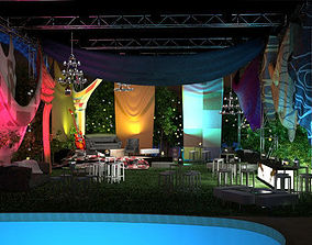 Event with fabric decoration 3D