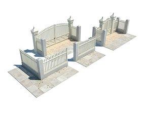 3D model Exterior Gate Puzzle 15 Am116