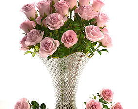 Bouquet of roses 3D model