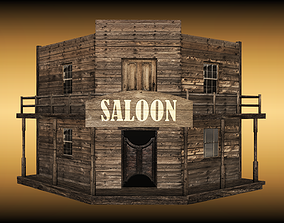 Old saloon 3D asset game-ready