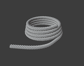 3D asset VR / AR ready Simple Rope