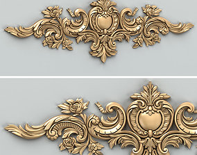 3D Carved decor horizontal 036