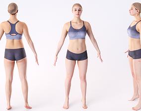 Woman sport 02 3D asset low-poly