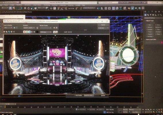 3dsMax Render- Virtual TV Studio Set