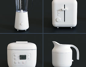3D model Muji kitchen appliances