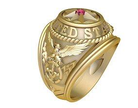 1786 USA Army Ring 3D print model
