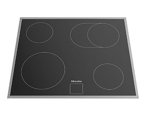 Ceramic electric hob KM 6024 600 mm by MIELE 3D asset