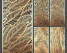 Decorative panel set 45 3D model