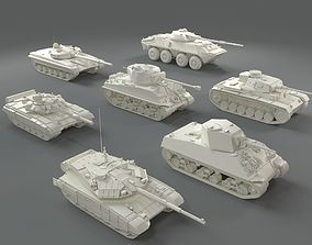 Tanks -7 pieces - part-1 3D asset
