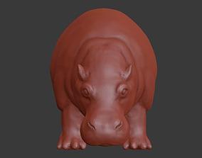 Hippo 3D print model sculptures
