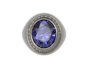 3D printable model Signet Ring Bid Polished Ring Oval 3