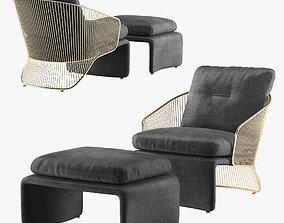 3D Minotti Colette armchair furniture