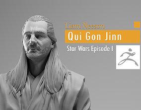 3D print model Liam Neeson - Qui Gon Jinn - Star Wars 1
