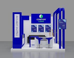 Booth Blue 3x3 3D