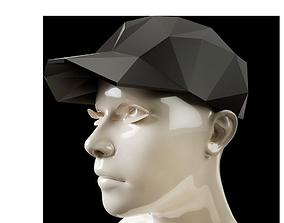 Low Poly Baseball Cap 3D printable model