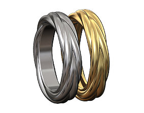 Classic double braided rope ring 3D print model