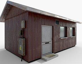 3D asset realtime Wooden House exterior