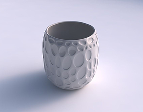 Bowl cylindrical with bubbles 3D print model