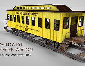 Western Passenger Wagon 3D model railway