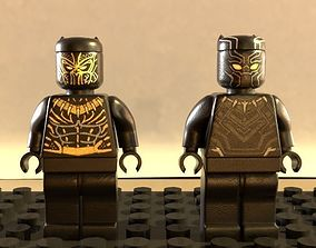 Lego Black panther and Erik killmonger 3D model