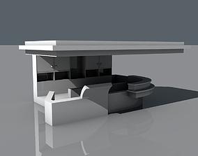 Coffee Kiosk Version 2 3D asset