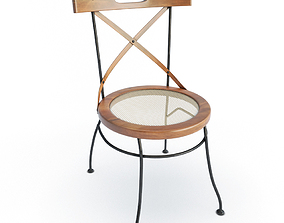 Luberon Wooden Chair 3D model