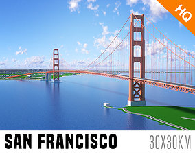 San Francisco City And Surroundings Low VR / AR ready 3