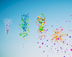 3D PBR Confetti particles FX