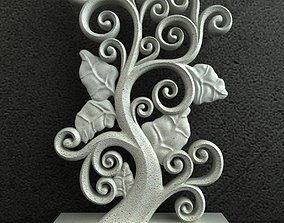 Floral Carving Ornament 001 3D