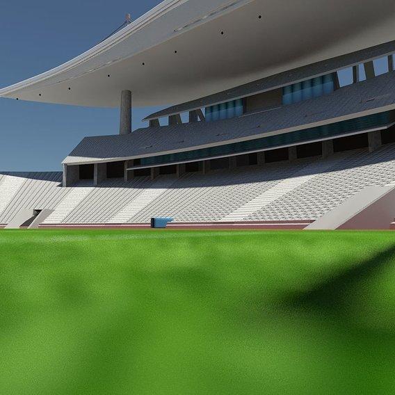 UEFA Champions League Ataturk Olympic Stadium Istanbul (LOWPOLY)