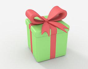 Present Box 3D asset