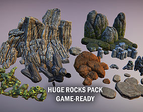 3D model Huge rocks pack