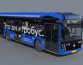 3D model Electric Bus KamAZ 6282 electrobus