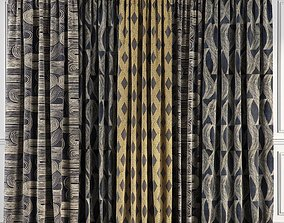 3D model Curtain Set 58