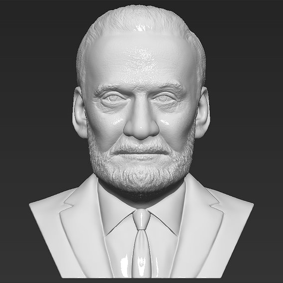 Buzz Aldrin bust for 3D printing