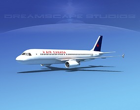 3D model Airbus A320 LP Air Canada 2