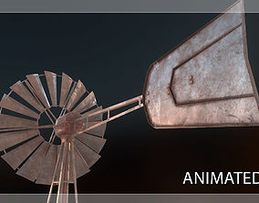 Low Poly Windmill PBR 3D asset